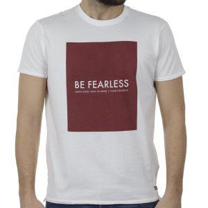 T-Shirt FUNKY BUDDHA FBM00105904 Λευκό