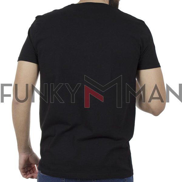 T-Shirt FUNKY BUDDHA FBM00106004 Μαύρο