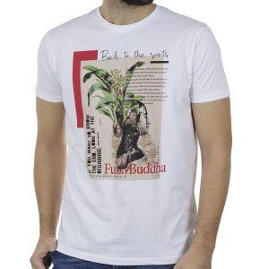 T-Shirt FUNKY BUDDHA FBM00106004 Λευκό