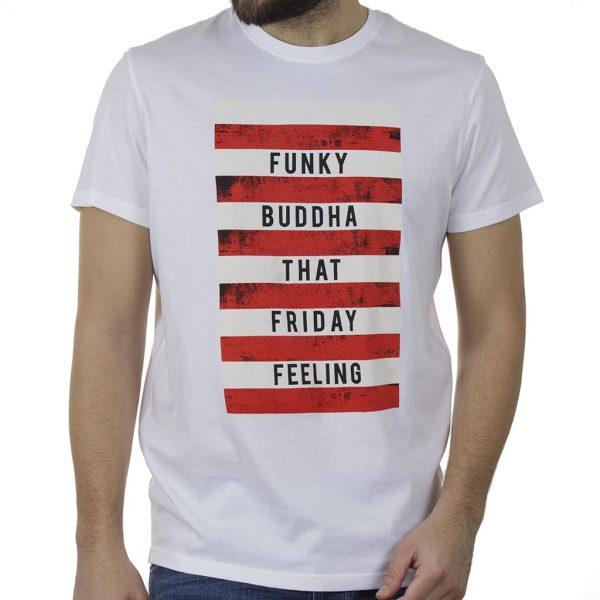 T-Shirt FUNKY BUDDHA FBM00107604 Λευκό