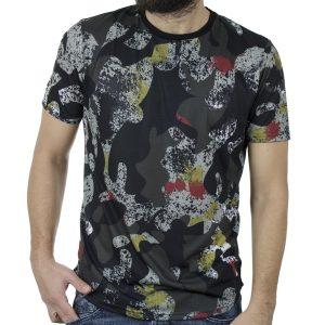 Κοντομάνικο Fashion All Over Print T-Shirt FREE WAVE 71168 Μαύρο