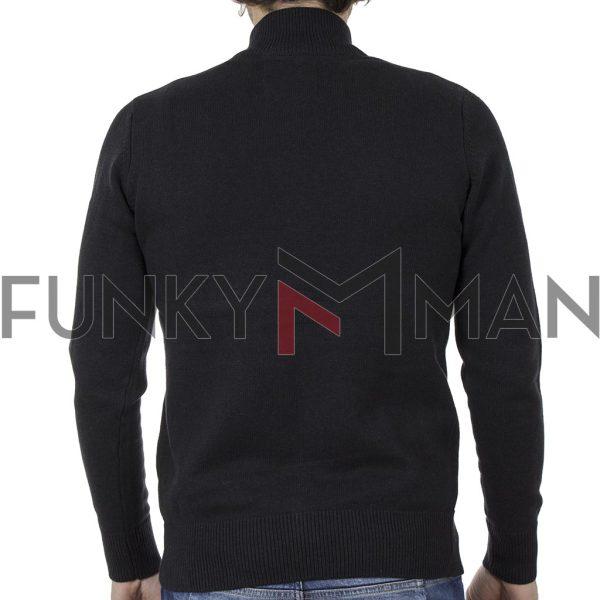Πλεκτή Ζακέτα FUNKY BUDDHA 002.006991 Μαύρο