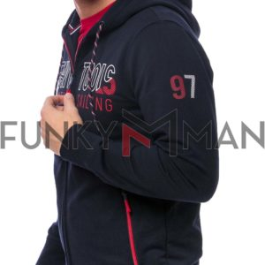 Hoodie Ζακέτα HEAVY TOOLS SUPER Navy