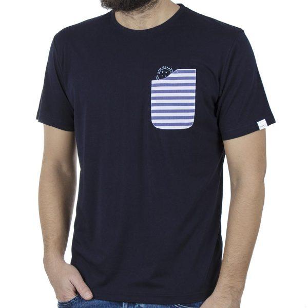 Κοντομάνικη Μπλούζα T-Shirt SNTA SSB-1-19 Navy