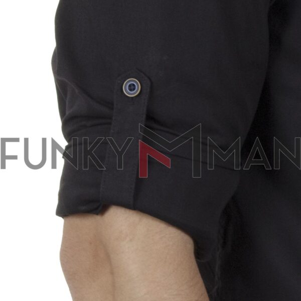Μάο Μακρυμάνικο Πουκάμισο Slim Fit DOUBLE GS-504 SS20 Μαύρο