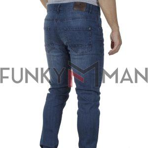 Τζιν Παντελόνι Slim Fit DOUBLE MJP-34 SS20 Μπλε