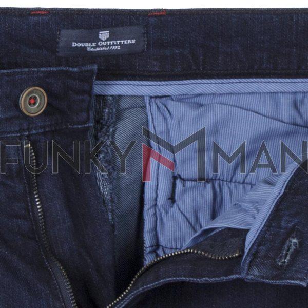 Τζιν ChinosΠαντελόνι Slim Fit DOUBLE MJP-36 Σκούρο Μπλε