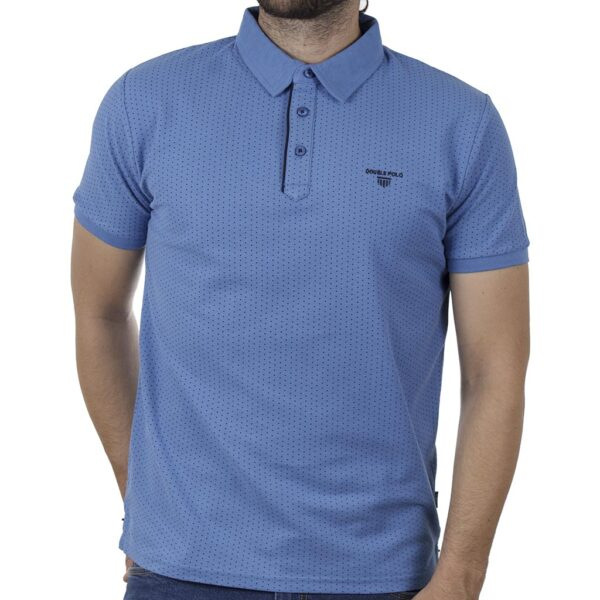 Πουά Κοντομάνικο Fashion Polo DOUBLE PS-240S SS20 Sky Blue