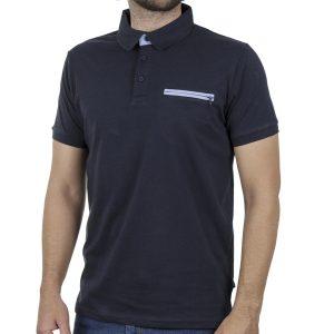 Κοντομάνικο Μπλούζακι με Γιακά Polo DOUBLE PS-250S Blue Black