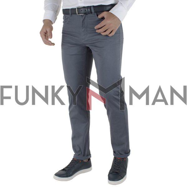 Πεντάτσεπο Casual Παντελόνι 5 Pockets DOUBLE FP-229 SS20 Stone Blue