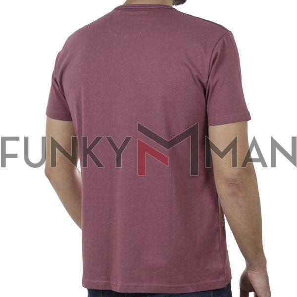 Κοντομάνικη Μπλούζα T-Shirt DOUBLE TS-115 SS20 Μωβ