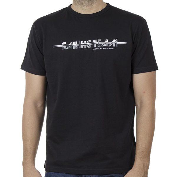 Κοντομάνικη Μπλούζα T-Shirt DOUBLE TS-115 SS20 Μαύρο