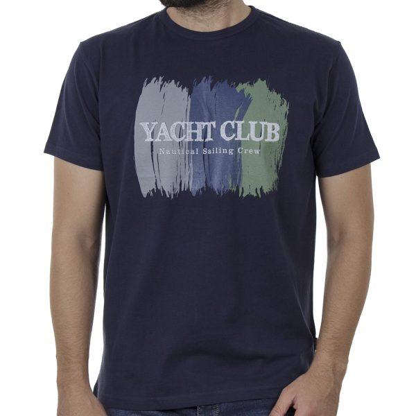 Κοντομάνικη Μπλούζα T-Shirt DOUBLE TS-115 SS20 Indigo