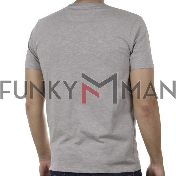 100% Flama Henley T-Shirt DOUBLE TS-116 SS20 Γκρι
