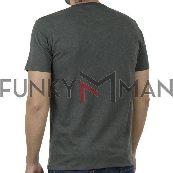 100% Flama Henley T-Shirt DOUBLE TS-116 SS20 Χακί