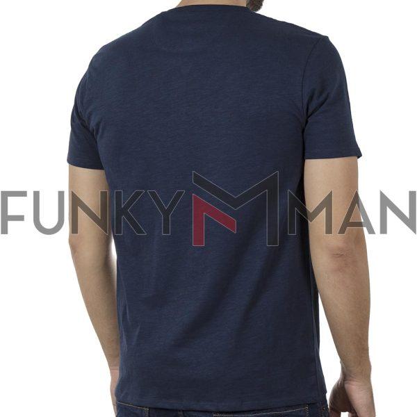 100% Flama Henley T-Shirt DOUBLE TS-116 SS20 Navy