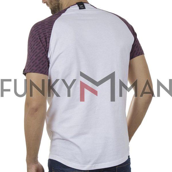 Κοντομάνικο Ρεγκλάν T-Shirt DOUBLE TS-119 SS20 CC2 Λευκό