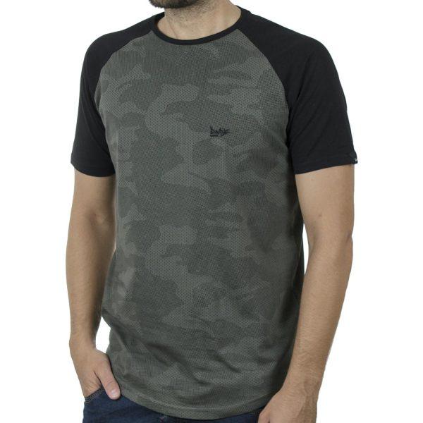 Κοντομάνικο Ρεγκλάν T-Shirt DOUBLE TS-119 SS20 CC4 Χακί παραλλαγής