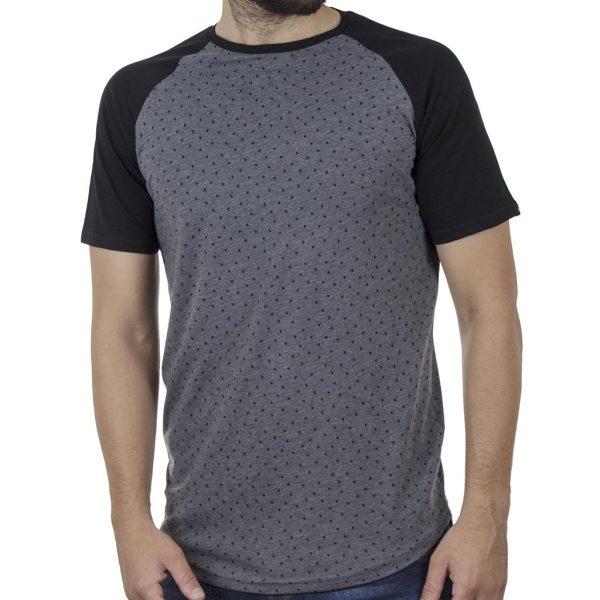 Κοντομάνικο Ρεγκλάν T-Shirt DOUBLE TS-119 SS20 CC3 Γκρι