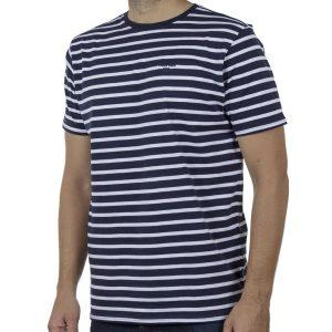 Ριγέ Κοντομάνικη Μπλούζα T-Shirt DOUBLE TS-121 SS20 CC1 Navy