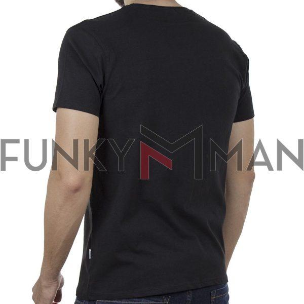 Κοντομάνικη Μπλούζα T-Shirt DOUBLE TS-125 SS20 Μαύρο