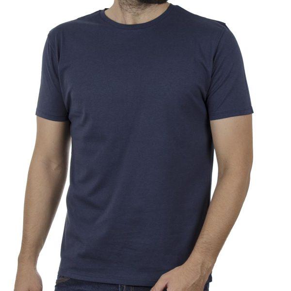 Κοντομάνικη Μπλούζα T-Shirt DOUBLE TS-125 SS20 Indigo