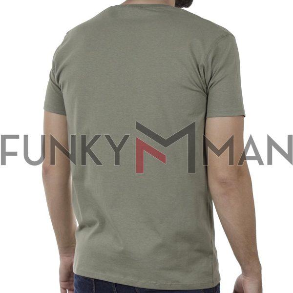 Κοντομάνικη Μπλούζα T-Shirt DOUBLE TS-125 SS20 Olive
