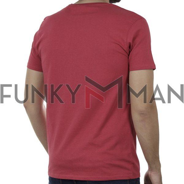 Κοντομάνικη Μπλούζα T-Shirt DOUBLE TS-125 SS20 Κόκκινο