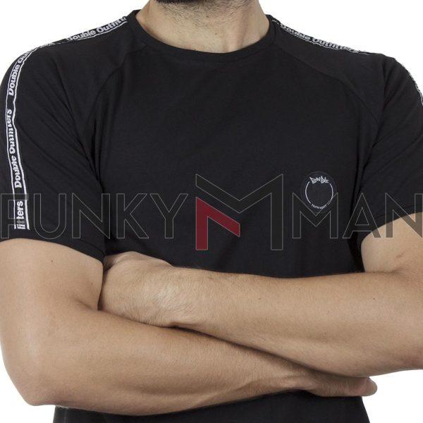 Κοντομάνικο Ρεγκλάν T-Shirt DOUBLE TS-127 SS20 Μαύρο