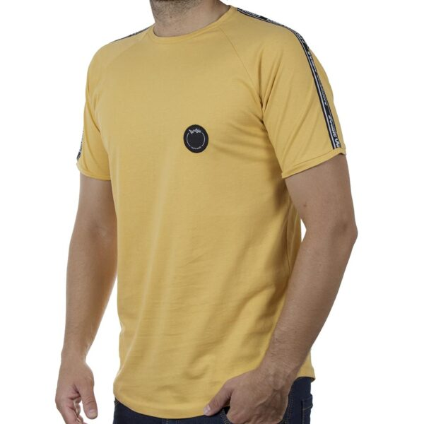 Κοντομάνικο Ρεγκλάν T-Shirt DOUBLE TS-127 SS20 Κίτρινο