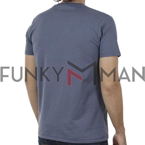 Κοντομάνικο T-Shirt DOUBLE TS-128 SS20 Indigo