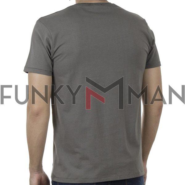 Κοντομάνικο T-Shirt DOUBLE TS-128 SS20 Χακί