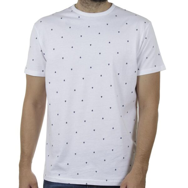 Κοντομάνικο All Over Print T-Shirt DOUBLE TS-129 SS20 Λευκό