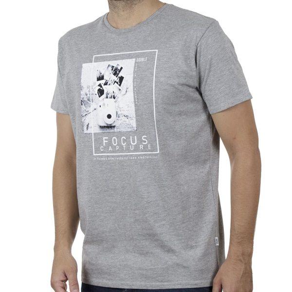 Κοντομάνικο T-Shirt DOUBLE TS-131 SS20 Γκρι