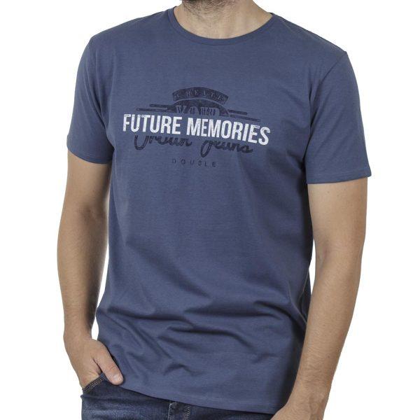 Κοντομάνικο T-Shirt DOUBLE TS-131 SS20 Indigo