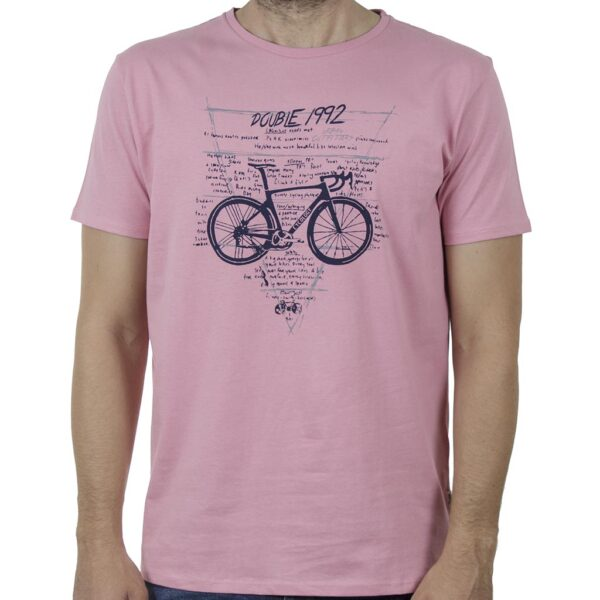 Κοντομάνικο T-Shirt DOUBLE TS-131 SS20 Ροζ