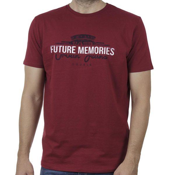 Κοντομάνικο T-Shirt DOUBLE TS-131 SS20 Κόκκινο