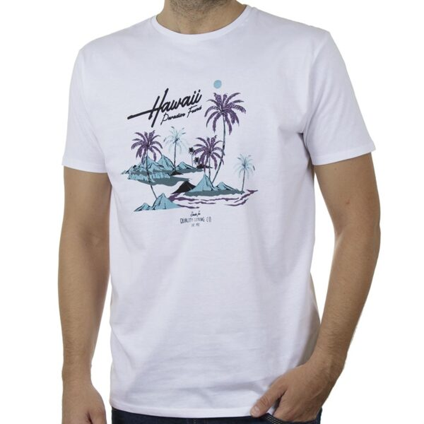 Κοντομάνικο T-Shirt DOUBLE TS-131 SS20 Λευκό