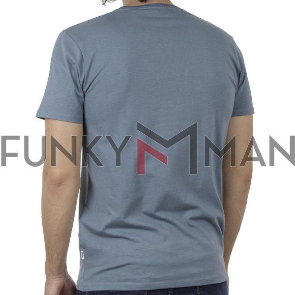 Κοντομάνικο T-Shirt DOUBLE TS-132 SS20 Stone Blue
