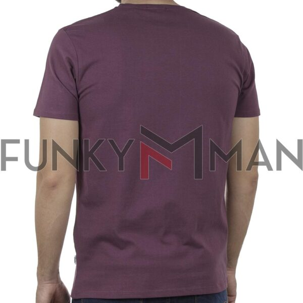 Κοντομάνικο T-Shirt DOUBLE TS-132 SS20 Wine Red
