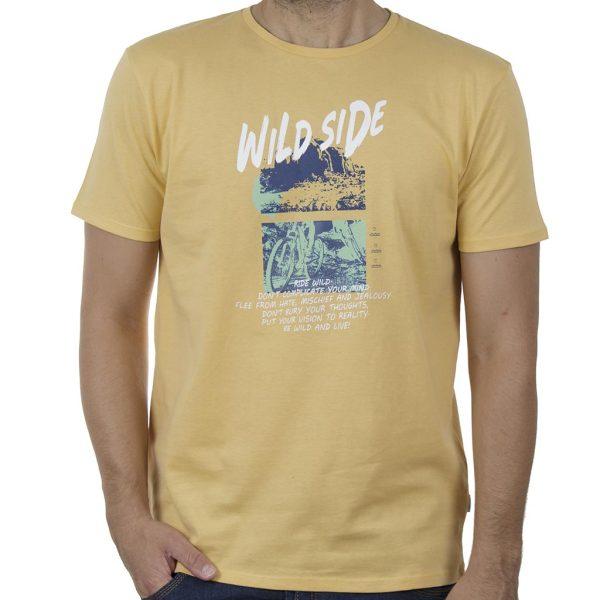 Κοντομάνικο T-Shirt DOUBLE TS-132 SS20 Κίτρινο