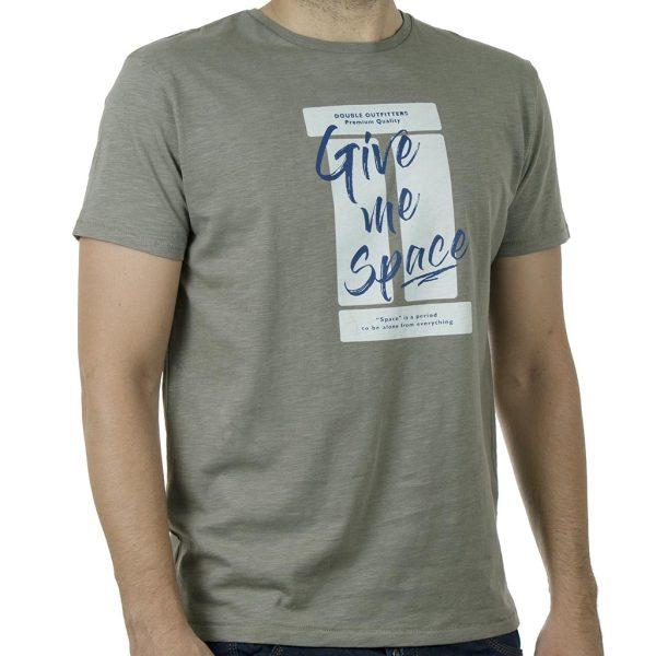 Κοντομάνικο 100% Flama T-Shirt DOUBLE TS-133 SS20 Χακί