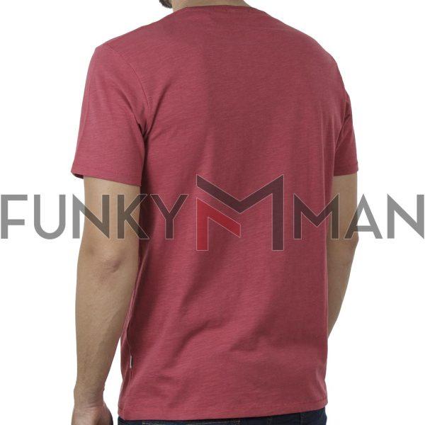 Κοντομάνικο 100% Flama T-Shirt DOUBLE TS-133 SS20 ανοιχτό Κόκκινο