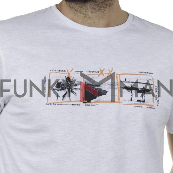 Κοντομάνικο 100% Flama T-Shirt DOUBLE TS-133 SS20 Λευκό