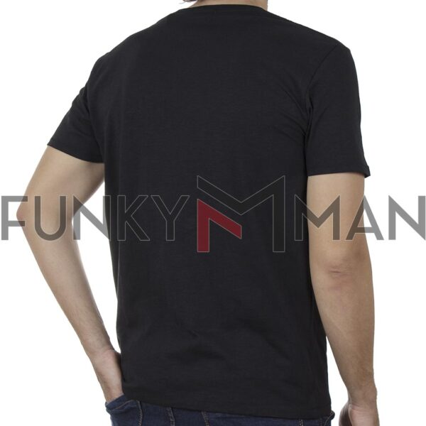 Κοντομάνικη Μπλούζα T-Shirt DOUBLE TS-133B SS20 Μαύρο
