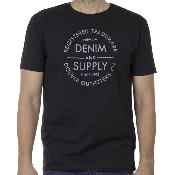 Κοντομάνικο T-Shirt DOUBLE TS-134 SS20 Μαύρο
