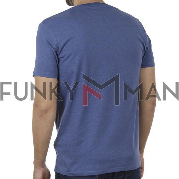 Κοντομάνικο T-Shirt DOUBLE TS-134 SS20 Indigo