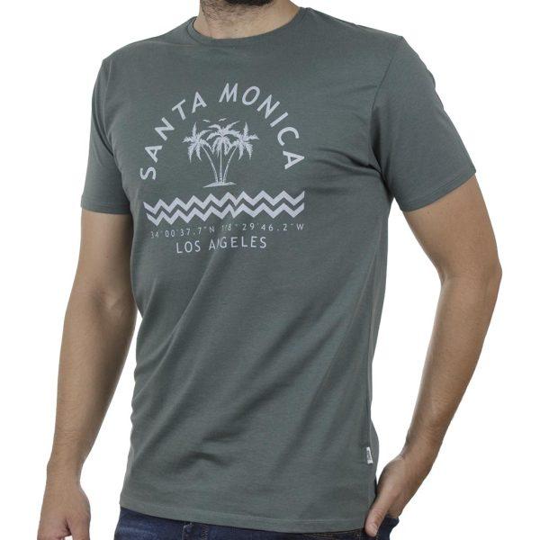 Κοντομάνικο T-Shirt DOUBLE TS-134 SS20 Olive