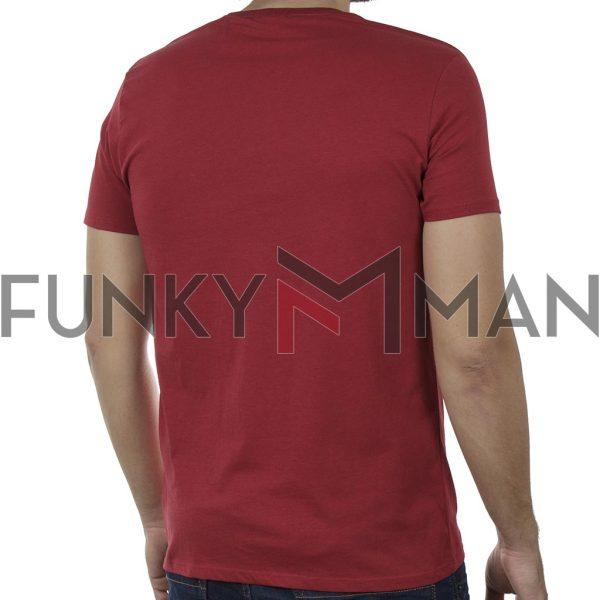 Κοντομάνικο T-Shirt DOUBLE TS-134 SS20 Κόκκινο