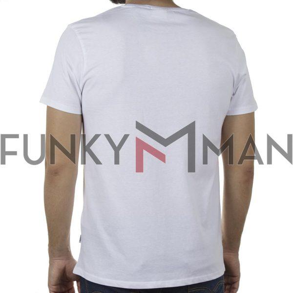 Κοντομάνικο T-Shirt DOUBLE TS-134 SS20 Λευκό